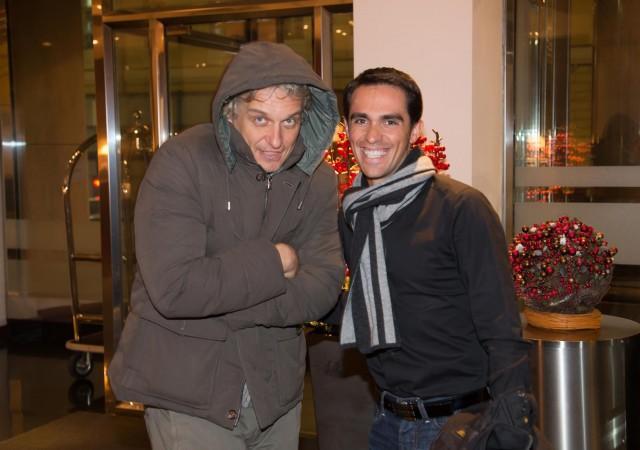 Oleg Tinkov junto a Alberto Contador. Foto: Astanafans