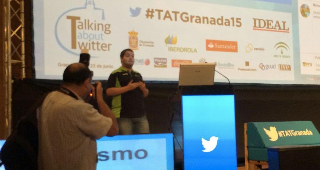 @DaniBici, explicando su trabajo en #TATGranada. El mejor del mundo en lo suyo.